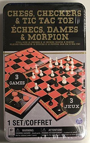 Chess, Checkers & Tic Tac Toe (3 Game Set)