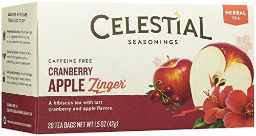 Celestial Seasonings Cranberry Apple Zinger Tea Bags - 20 ct
