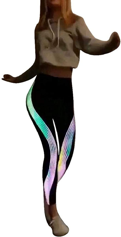 Leggings Mujer Fitness 2020 SHOBDW Tira Reflectante Arco Iris De ...
