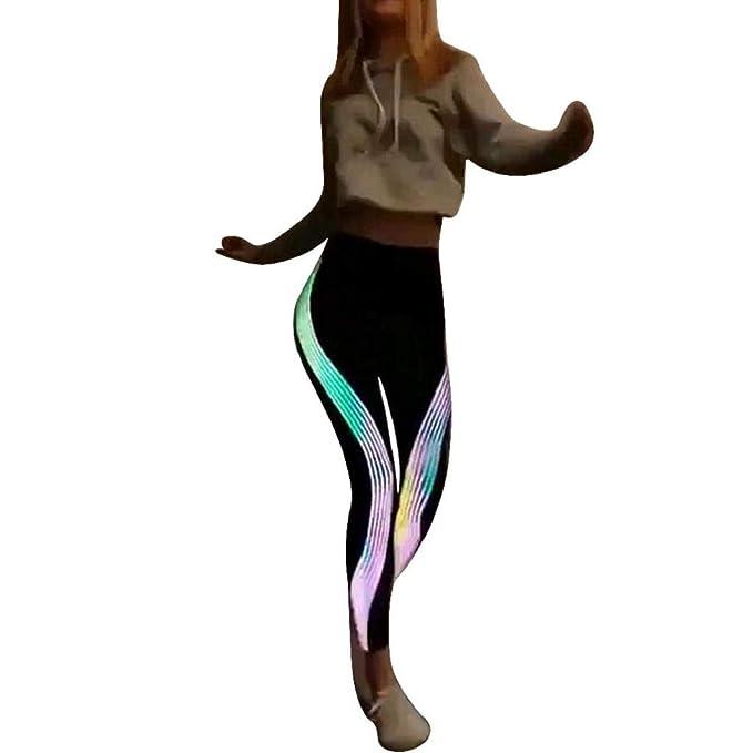 QUICKLYLY Yoga Mallas Leggins Pantalones Mujer,Mujeres NeóN ...