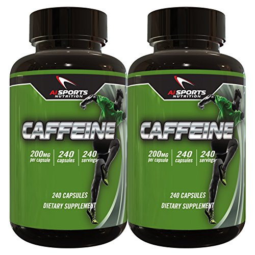 Caffeine 240 Serving Bottle Twin Pack 200MG Per Serving By AI Sports Nutrition