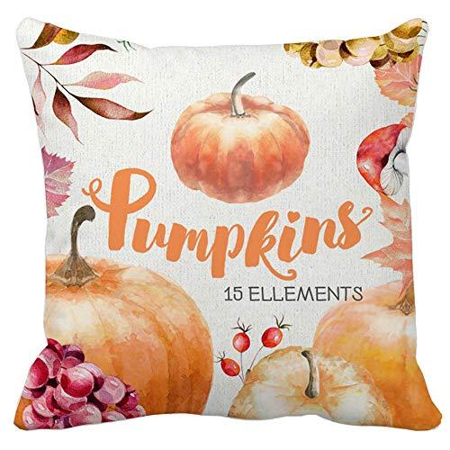 UONQD Halloween Pillows Cover Decor Pillow Case Sofa Waist Throw Cushion Cover (45cm45cm/18