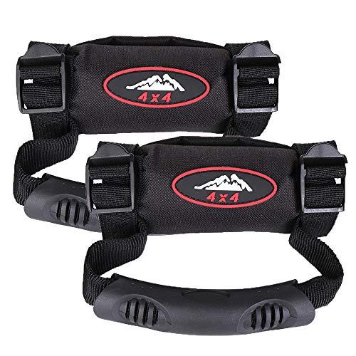 (kemimoto 2 Pack UTV Heavy Duty Roll Cages Grab Handle Grips Grab bar Hand Hold for Polaris RZR Kawasaki, Honda, Wildcat,Gator 825i)
