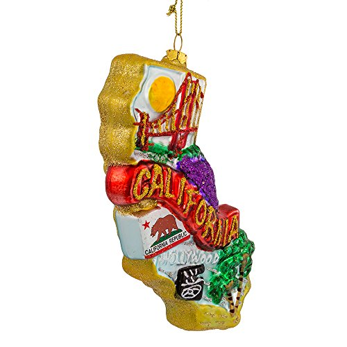 Kurt Adler T0738 California Glass Ornament, 6-1/2-Inch