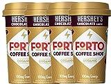 NEW Forto Coffee Shots Organic Hershey's Chocolate Latte,/Vanilla Latte 100mg Energy (Hershey's, 4)