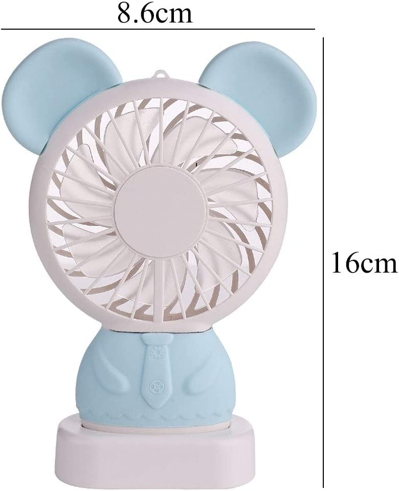 Color : Red Air Cooling Fan Mobile Phone Holder USB Fan Rechargeable Mini Desktop Fan Detachable Fan Student Dormitory