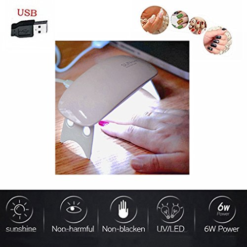 Nail Polish Dryer, Libison 6W USB LED UV Lamp Nail Gel Curin