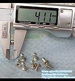 Garment Rivet - 1000 Set Spikes Cone SCREWBACK Silver Nickel Bullet Punk Rivet Leather Bags Craft - (Color: 6mmx4mmx8mm)