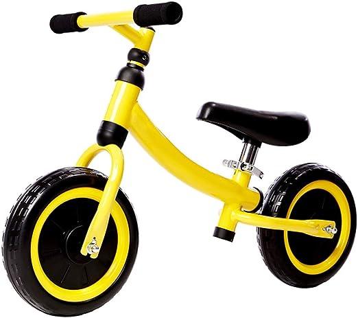 YUMEIGE Bicicletas sin Pedales Bicicletas sin Pedales 10 Pulgadas, Adecuado for Altura 31.4-39.3 niños, Bicicleta de Equilibrio para niños Altura del Asiento 12.2-14.1 Verde Rojo Amarillo: Amazon.es: Jardín