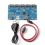 External 1 to 5 SATA Port Expander Multiplier Card with Jmicron Chipset P2