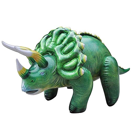 Jet Creations - Inflatable Triceratops - Perfect for Decorations - Great for Kids -Green