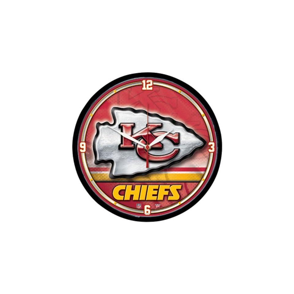 Kansas City Chiefs NFL Round Wall Clock