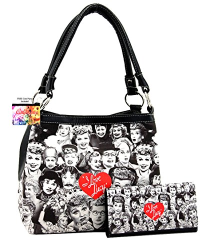 I Love Lucy Collage Purse and Wallet Set (Black) for sale  Delivered anywhere in USA