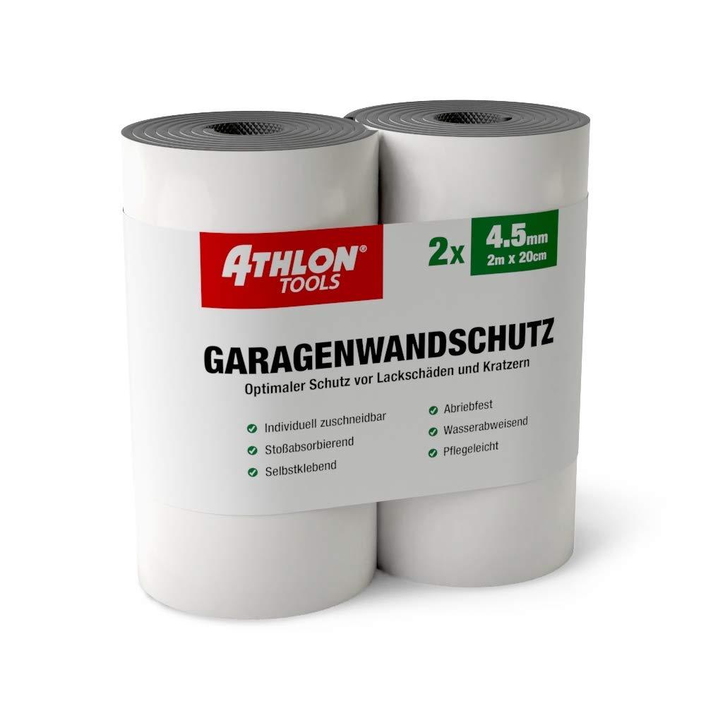 Athlon Tools - Weiß er Premium Garagenwandschutz | je 2 m lang | Super Dicker Auto Tü rkantenschutz | Selbstklebend | Wasserabweisend | 2er Set Commerciamo GmbH C2503