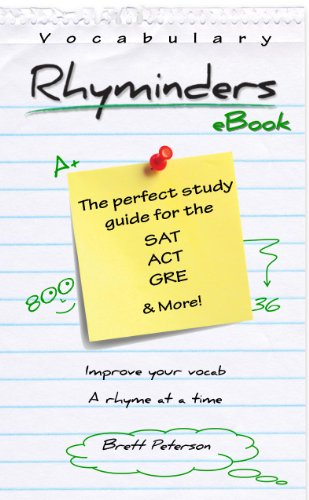 Vocabulary Rhyminders: Vocabulary Word Study Guide for the SAT, ACT, GRE