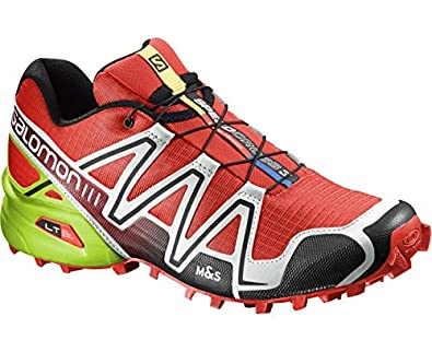 Salomon Men s Speedcross 3 Trail Running Shoes Radiant Red Light Grey Granny  Green 11.5  Buy Online at Low Prices in India - Amazon.in 7a9585240bd