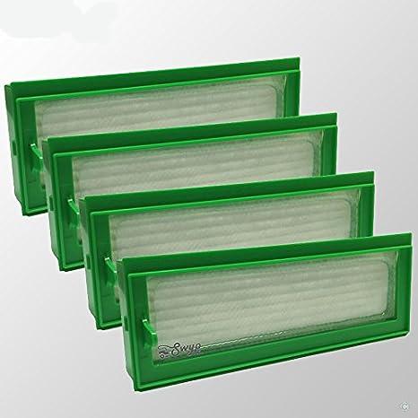 4 pieza filtro HEPA Allergie Filtros de repuesto para aspiradoras ...