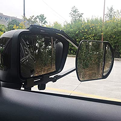AUTLY 2 PCS Towing Mirrors Universal Side Mirror Extensions for Towing for Gmc Custom Chevrolet Cadillac Ford: Automotive