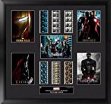 Marvel's Cinematic Universe Phase 1 (S1) Framed and Matted Genuine Film Cells Mixed Montage USFC6320