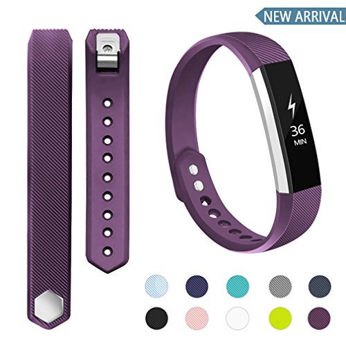 POY Compatible Bands Replacement for Fitbit Alta/Fitbit Alta HR, Adjustable Sport Wristbands for Women Men ()