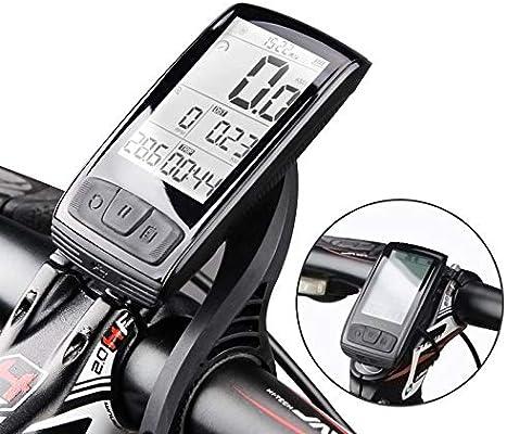 Ordenador de bicicleta GPS inalámbrico impermeable 20E Ciclismo Ordenador Ciclo Velocímetro Odometro, color negro: Amazon.es: Hogar