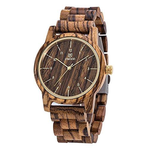 Men And Women's Wooden Watch Analog Quartz Lightweight Handmade Wood Wrist Watch Unique Gift by UWOOD
