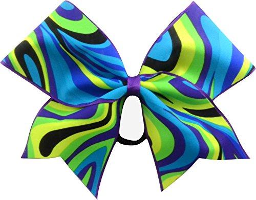 Sparkle Bows Cheer Neon Swirls Cheer Bow