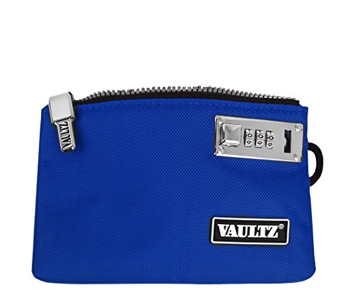 VaporVaultz Locking Accessory Pouch, 1 x 5.x 8 Inches, Blue (VZ00504)