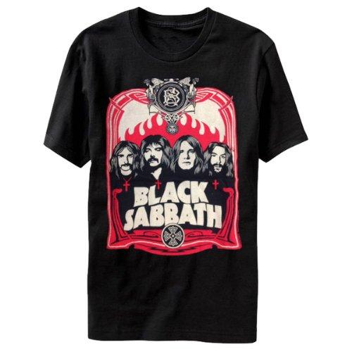 Black Sabbath 'Red Flames' Black T-Shirt