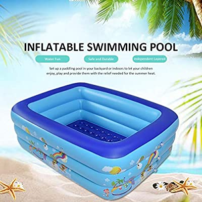 xiaohuhu Family Inflatable Swimming Pool, Portable Outdoor Indoor Garden Backyard Water Play, Full-Sized Inflatable Lounge Pool for Baby, Kiddie, Kids, Adult, Infant, Toddlers for Ages 3+: Home & Kitchen