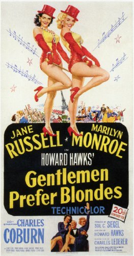 Gentlemen Prefer Blondes Poster Movie C 11x17 Marilyn Monroe Jane Russell Charles Coburn