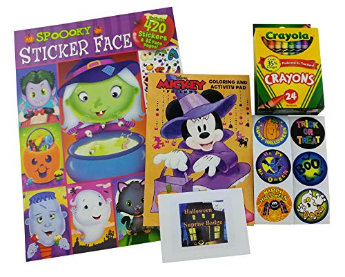 (Halloween Coloring & Activity Book Bundle - Spooky Face Color & Sticker bundle - 5)