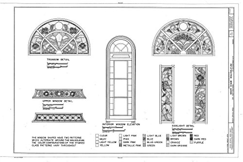 Garden Shaws Louis - Historic Pictoric Blueprint Diagram HABS MO,96-SALU,105E- (Sheet 3 of 3) - Missouri Botanical Garden, Henry Shaw Mausoleum, 2345 Tower Grove Avenue, Saint Louis, Independent City, MO 44in x 30in