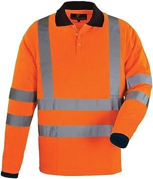 Euro Protection – Polo Manga Larga Alta Visibilidad De Camiseta De ...