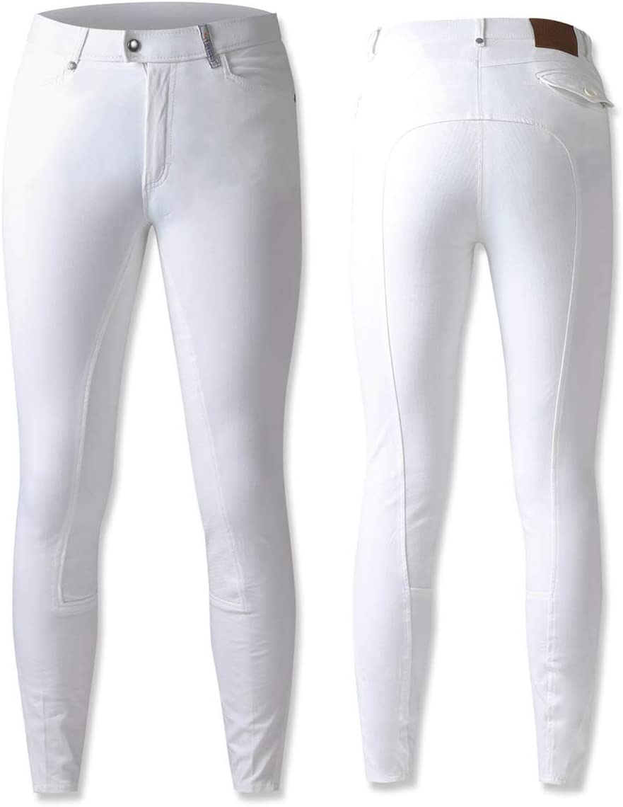 乗馬用品 Essentials by PK ヘストン キュロット フルグリップ メンズ ホワイト 乗馬 馬具 ホワイト EU46