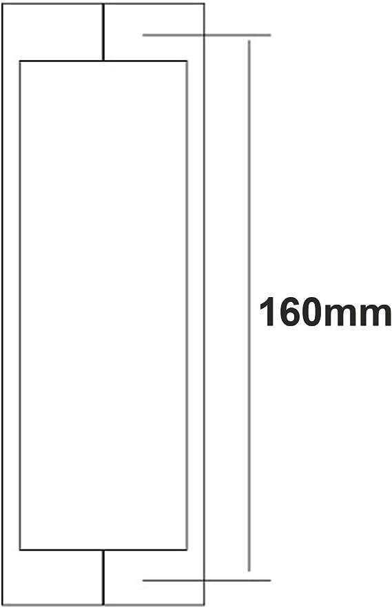 Di Vapor (R) - Tirador para puerta de ducha (acero inoxidable, 160 ...