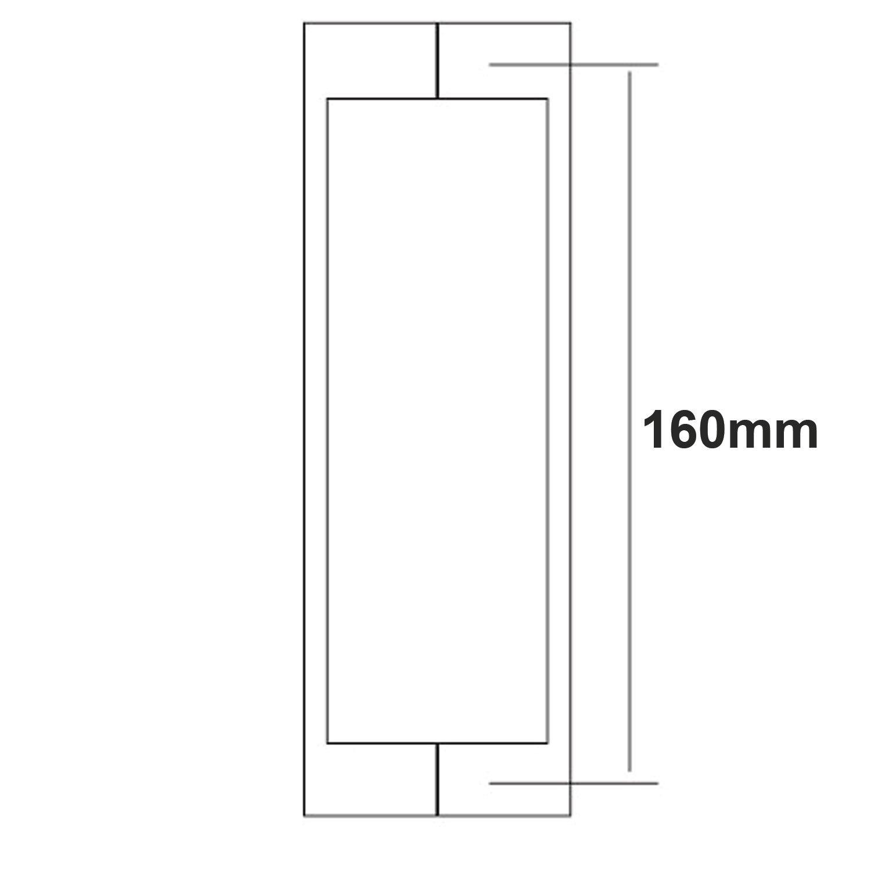 Di Vapor 16/cm de trou /à trou R poign/ée de porte de douche en acier inoxydable massif