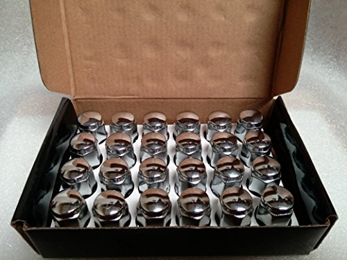"AccuWheel LNA-12150C6 Chrome Bulge Acorn Wheel Lug Nuts (12mm x 1.5 Thread Size) 1.4"" Tall - Pack of 24 Lugnuts"