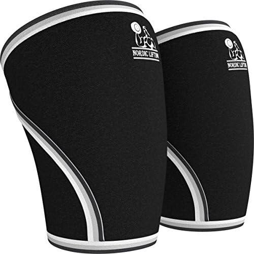 Nordic Lifting Knie Ärmel (1Paar) Unterstützung & Kompression für Gewichtheben, Powerlifting & Crossfit–7mm Neopren Sleeve Kniebeugen–sowohl Frauen & Männer 1Jahr Garantie