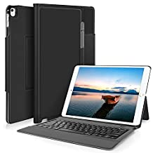 Apple ipad pro 12.9 2017 keyboard, KuGi Apple ipad pro 12.9 2017 Case With Keyboard Ultra-Thin Bluetooth Keyboard Stand Case / Cover + Pencil holder for Apple ipad pro 12.9 2017-inch 2017 Version Tablet (Black)