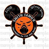 Disney Halloween Magnet | Halloween on the High Seas | Halloween Disney Cruise Magnet | Family Magnet For Cruise Door