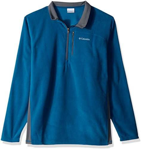- Columbia Men's Lost Peak Half Zip Fleece, Phoenix Blue/Graphite, XX-Large