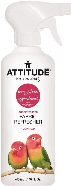 ATTITUDE Natural Fabric Refresher Hypoallergenic, Tulip Field, 16 Fluid Ounce