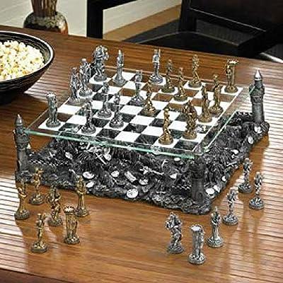 Dragon Chess Set Medieval Kingdom Glass Board Fantasy BESTChoiceForYou