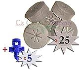 25 PACK BLACK - NEW SPOKE DESIGN - Net Pot Cloning Collars Inserts + FREE Micro Sprayers!! DIY Cloner and Clone Machines by Cz Garden Supply (25 pack)