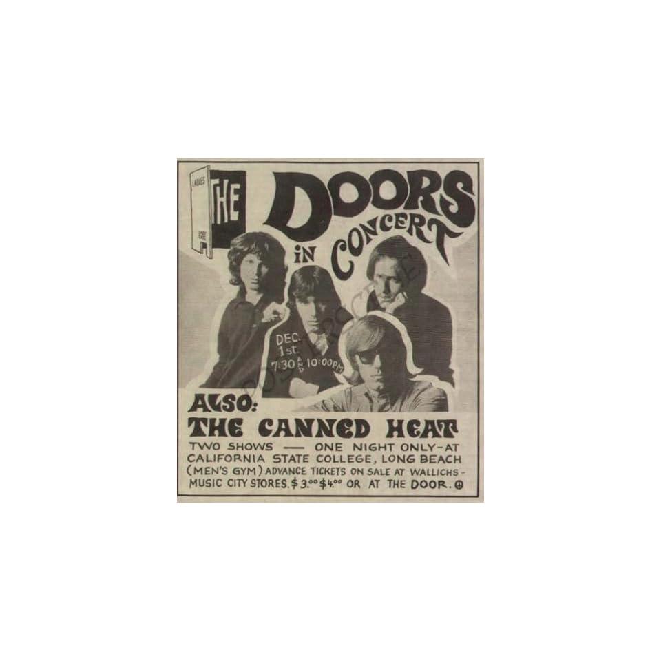 Led Zeppelin Plant Page LA Original Concert Promo Ad 70