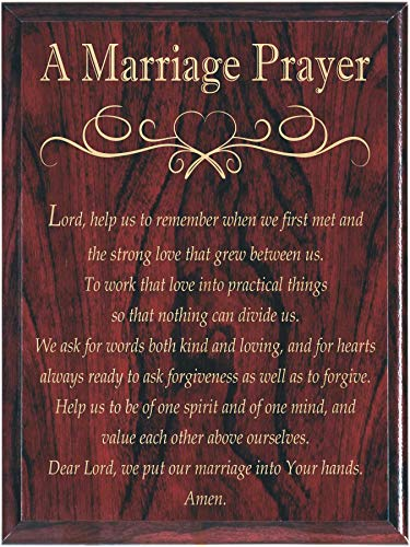 A Marriage Prayer Wall Plaque - Perfect Wedding Anniversary Present ()
