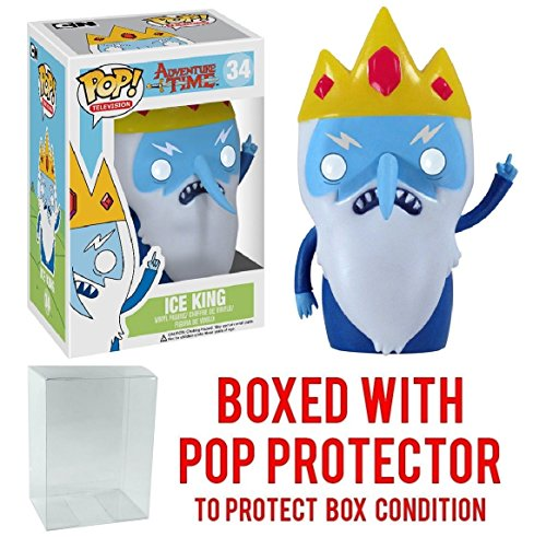 Funko Pop  Tv  Adventure Time   Ice King Vinyl Figure  Bundled With Pop Box Protector Case