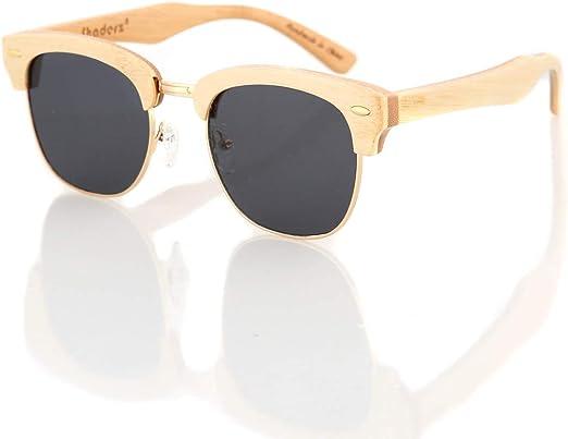 Handmade Unisex Bamboo Wood Polarized Sunglasses Wooden Frame Retro Glasses