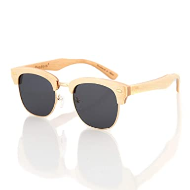 31dddaf5fc Bamboo Wood Wooden Sunglasses by Shaderz - Vintage Retro Classic 100%  Natural Eco Friendly Handcrafted